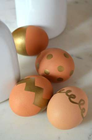 Gold Marker Easter Eggs