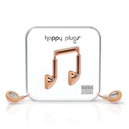 Happy Plugs rose gold ear buds