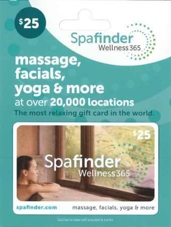 Spa Finder gift card