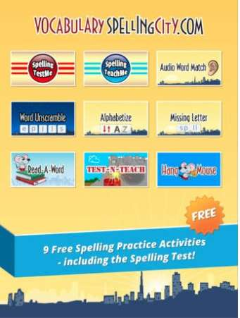 Vocabulary Spelling City app