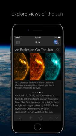 NASA visualization is a great educational app for kids