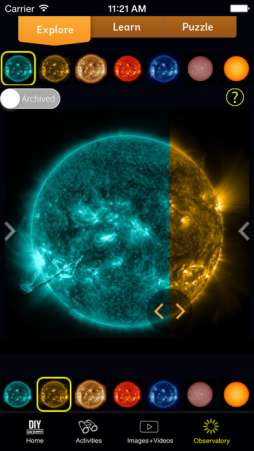 DIY Sun Science is a great educational app for science