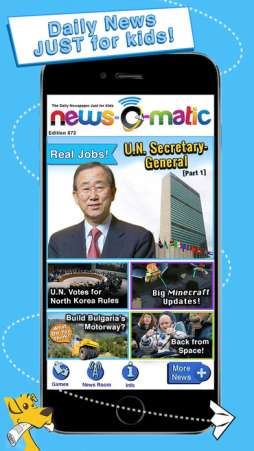 New-O-Matic is a great free news app for kids
