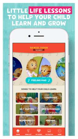 Daniel Tiger for Parents is a wonderful app for parents and caregivers