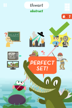 SAT Vocab is a great educational app for learning words