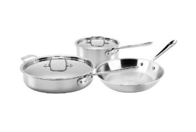 Made in the USA, All Clad pots and pans
