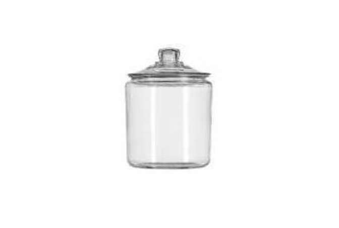 Made in the USA, Anchor Hocking Company glass jar with lid