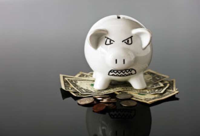 angry,scowling,piggybank