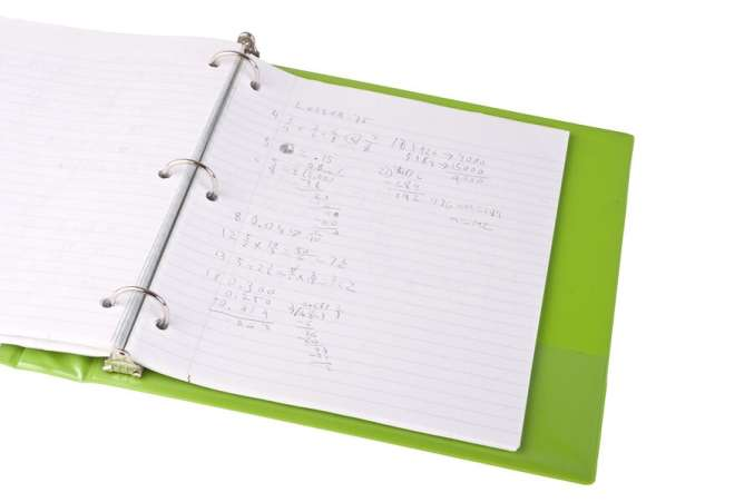 Green Binder with Paper