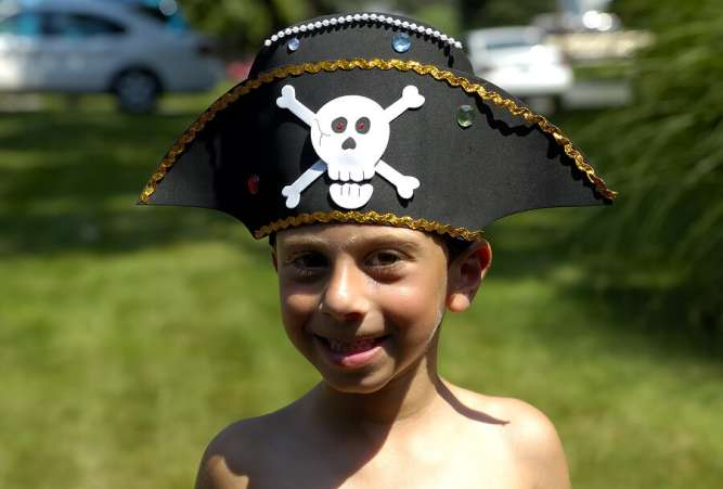 Boy in Pirate Hat