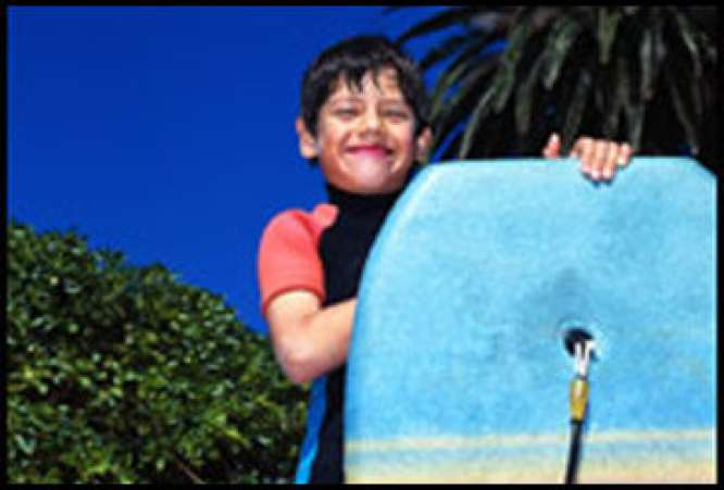Boy with boogieboard