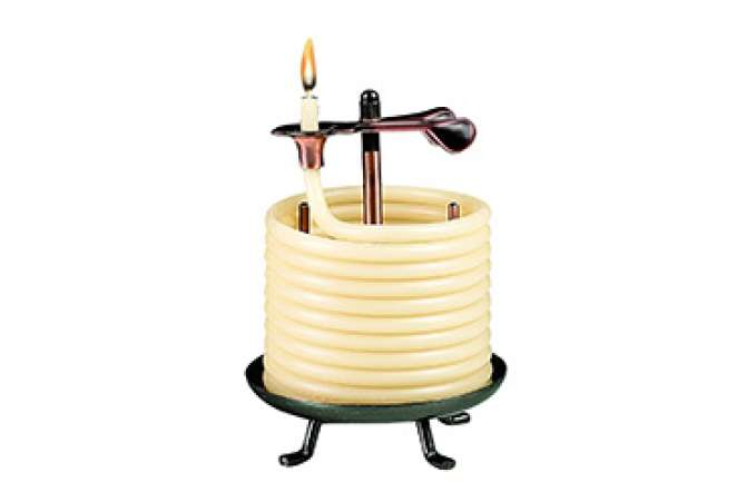 Candle By the Hour Natural Beeswax Candle