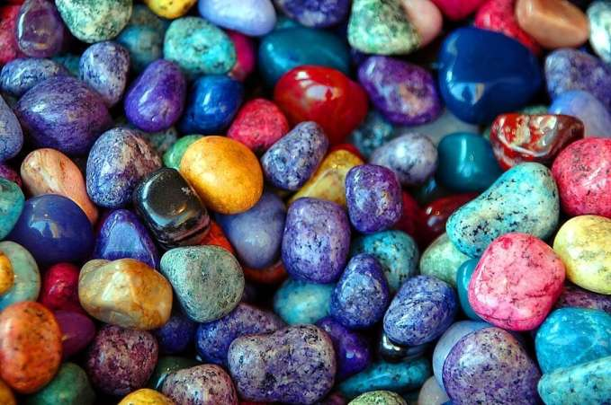 Close up of colorful rocks