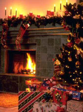 Fire place and Christmas tree