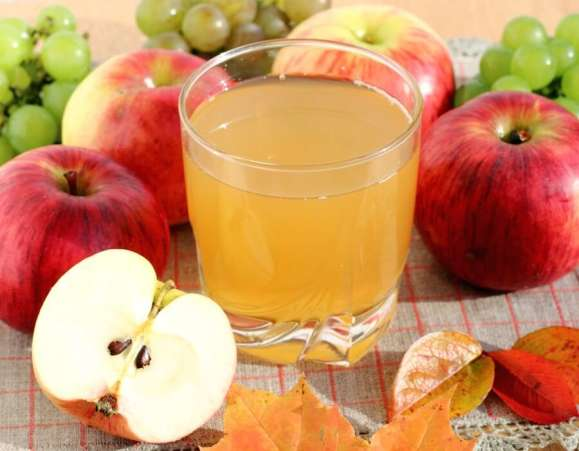Fresh apple cider and apples
