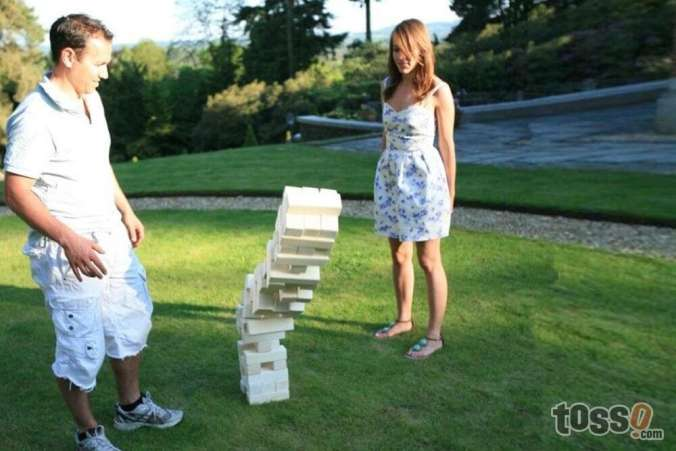 Giant Jumble Tower outdoor game
