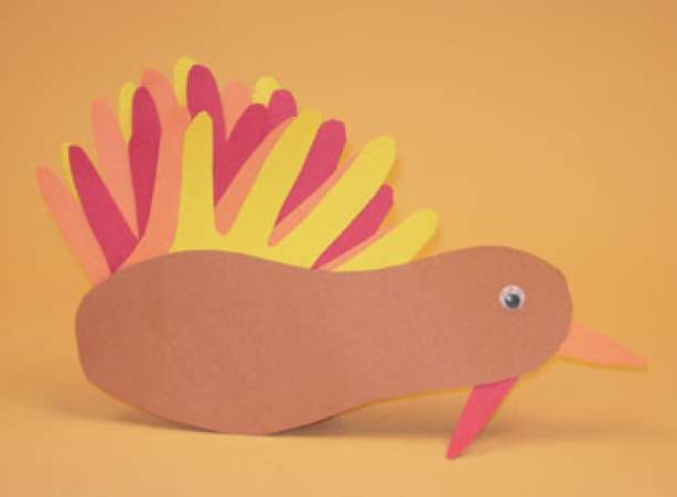 Hand-traced feather Turkey