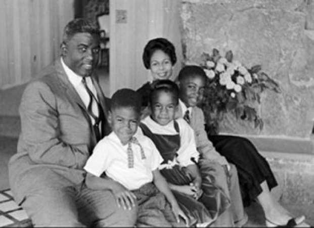 Jackie and Rachel Robinson Family