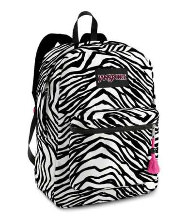 Jansports Zebra Print Back Pack