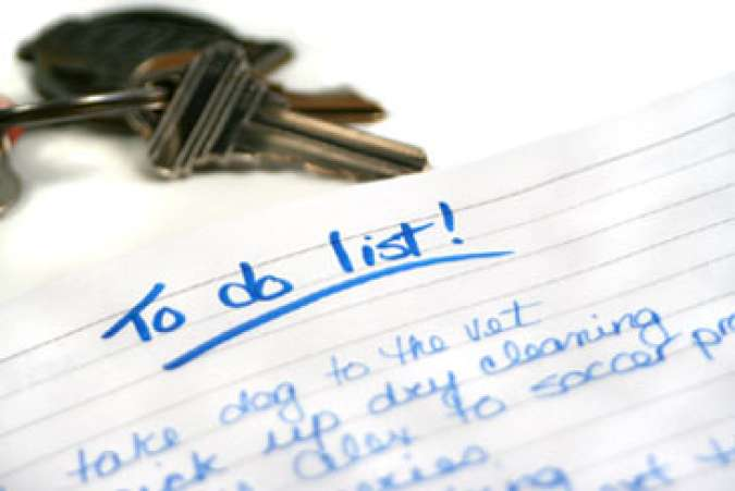 Keys and To Do List