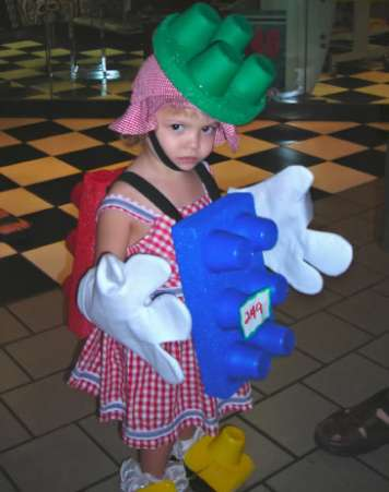 Lego Girl, Halloween Costume
