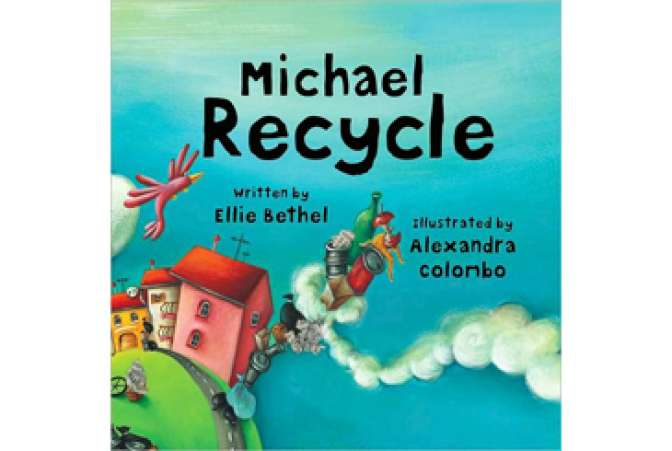 Earth Day books, Michael Recycle