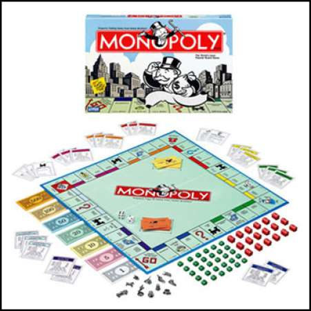 Monopoly is a great rainy day board game