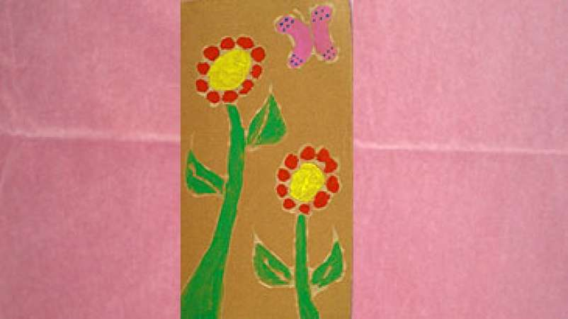 Flowers Paint Relief