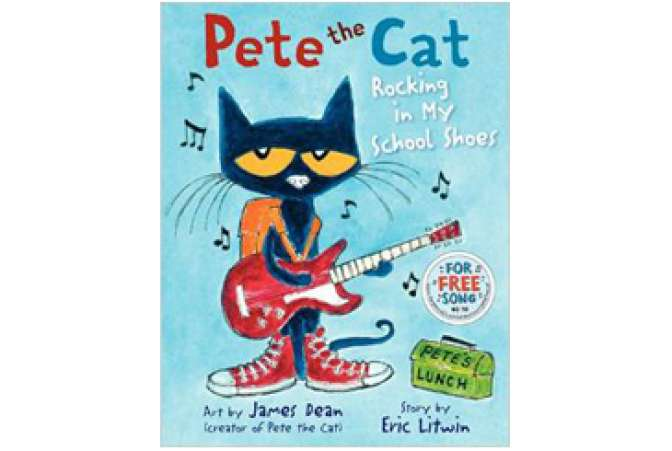 Pete the Cat Rockin School Shoes, BTS book
