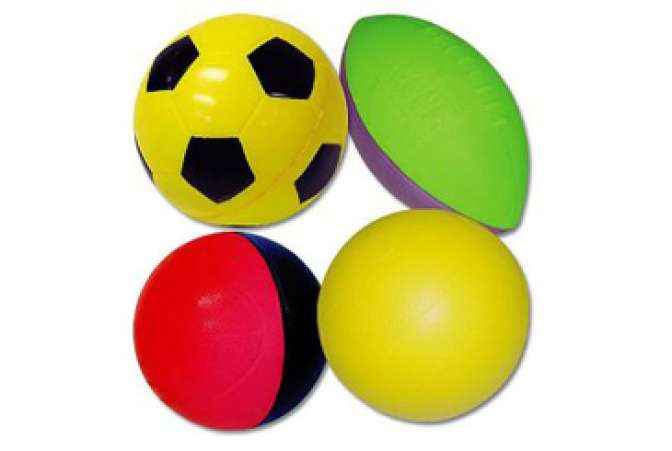 Best Toys Made in the USA, Poof four pack soft sports balls