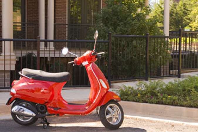 Red Motor Scooter