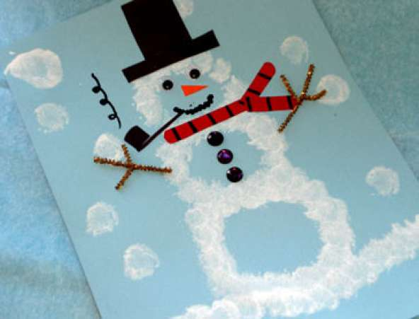 WinterCrafts,SpongeSnowman