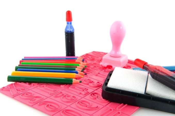 Kid's art supplies and stamp set