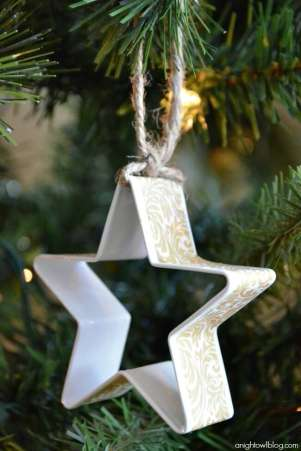 Washi Tape Cookie Cutter Ornament