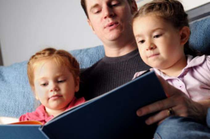 Reading to your child is great on a rainy day or any day