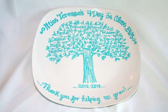 signed plate class gift for teacher