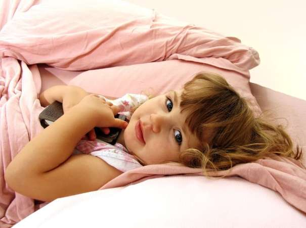 Toddler cozy in bed