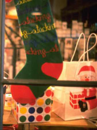 Stocking in Window