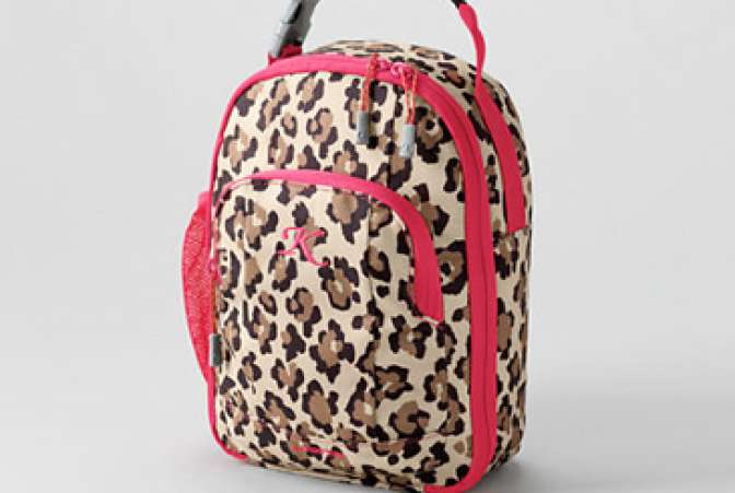 leopard print Lands End lunch box