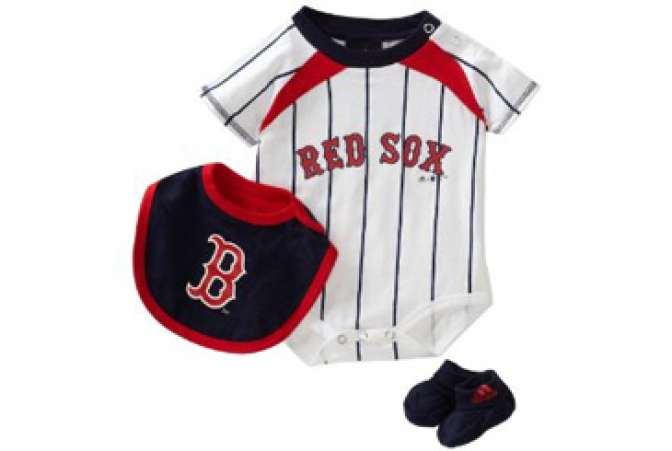 First Fathers Day gift ideas, Red Sox baseball team onesie