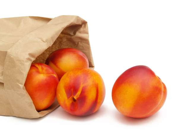 bag of nectarines, fruits