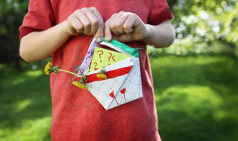 Thoughtful Mothers Day gift, child with homemade craft for mom