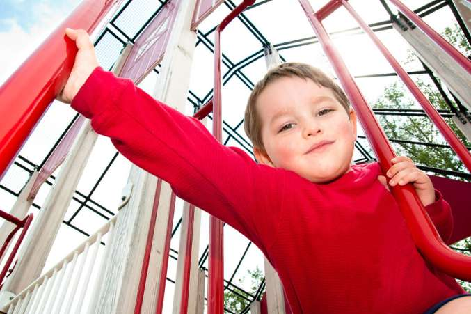 ADHD treatment options, boy playing on playground