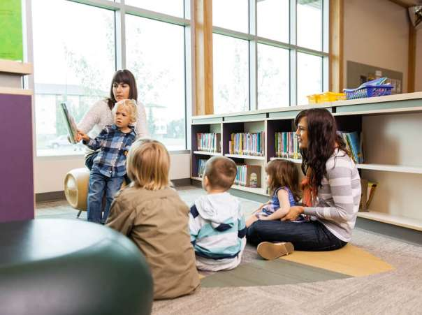 children's story time at library