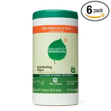 15 minute cleanup products, Seventh Generation disposable cleaning wipes