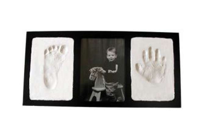 First Fathers Day gift ideas, baby handprint footprint frame