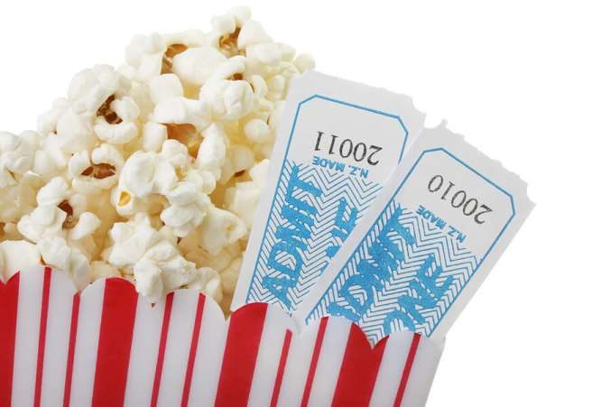 Mothers Day gift, movie popcorn and tickets