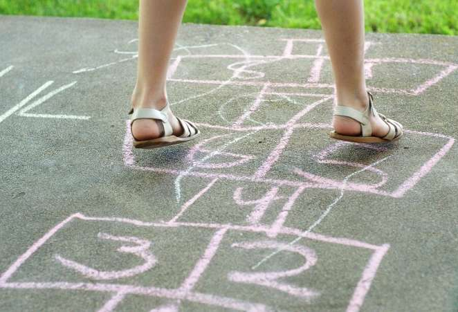 Image result for kids playing chalk games
