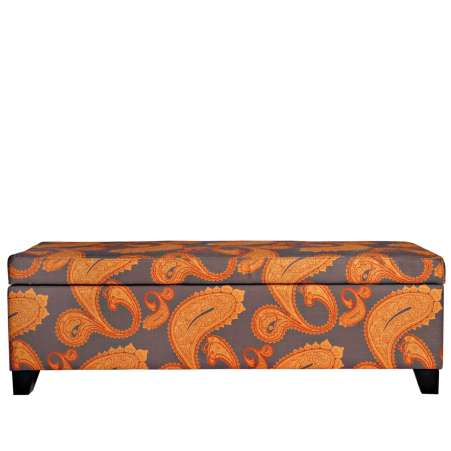 15 minute cleanup products, orange and brown storage trunk