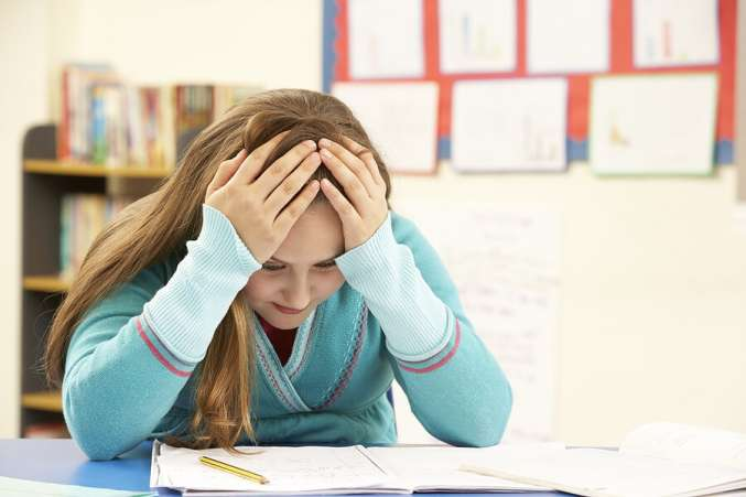 End of School Year, failing student stressed about studying